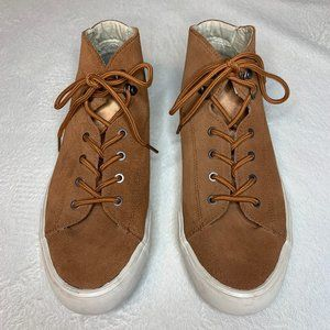 SeaVees Hightop Sneakers in Brown Suede